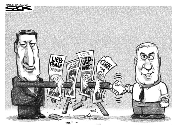 sack Steve Sacks Cartoon for 12/9/2003 cartoons