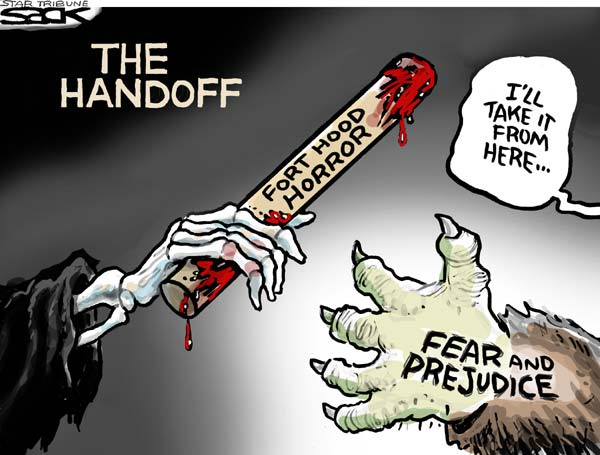 sack Live Blog: Fort Hood Cartoons cartoons