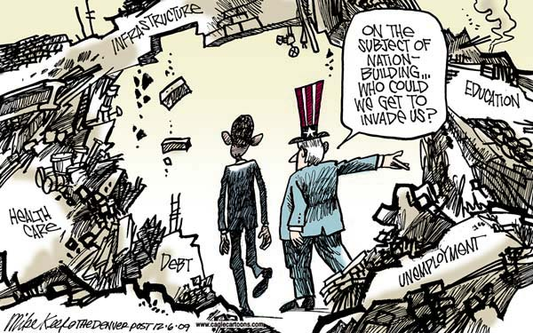 keefe Mike Keefe Cartoon for 12/05/2009 cartoons