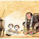 tv and game boy 150x150 Interview With Indonesian Cartoonist Thomdean cartoons