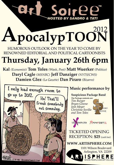 ApocolypToon Flyer Come See Me at ApocalypTOON cartoons