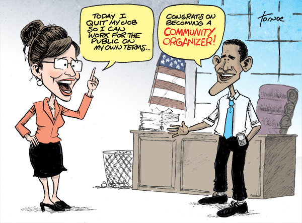 Palin resigns On This Day in 2009, Palin Resigns  cartoons