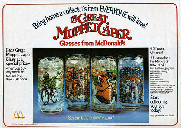 The Great Muppet Caper Galsses, McDonalds