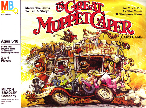 Milton Bradley,The Great Muppet Caper Card Game