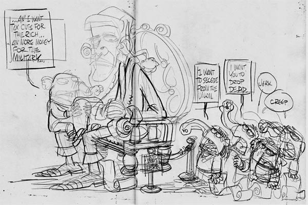 Sketch600wide Santa Obama cartoons