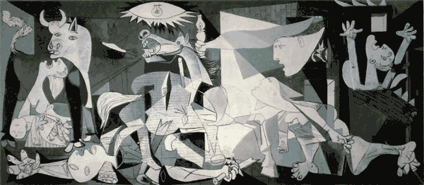 guernica600wideforweb Cliffs, Fighting Elephants and Picasso cartoons