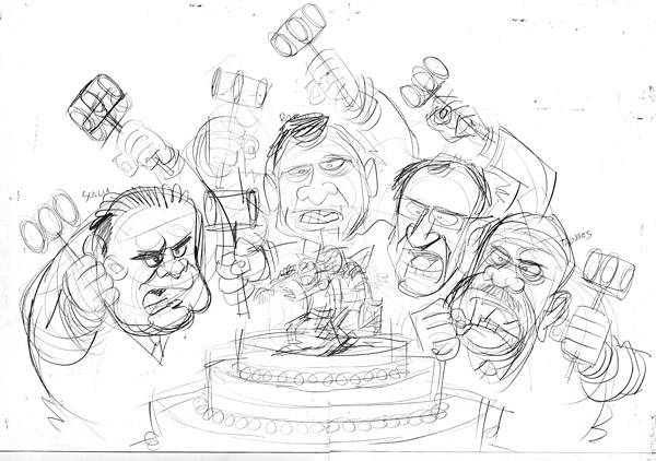 ScotusSketch600wide Gay Marriage, Prop 8, Republicans and the Supreme Court! cartoons