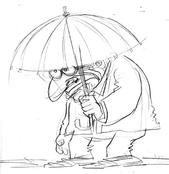 Umbrella350wide Taxes, France and Boobs cartoons