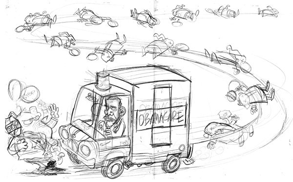 ObamacareSketch600 Arab Spring, Obamacare, Republicans and Teachers! cartoons